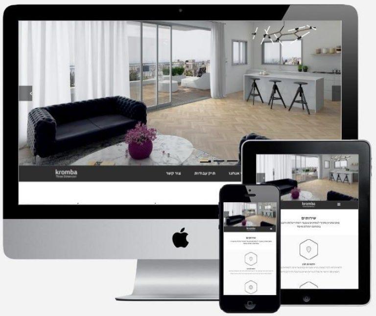 אתר אינטרנט של חברת קרומבה - עיצוב והדמניה תלת מימדית